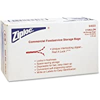 Ziploc® Double Zipper Bags, Plastic, 2 gal, Clear w/Write-On Panel, 100/carton