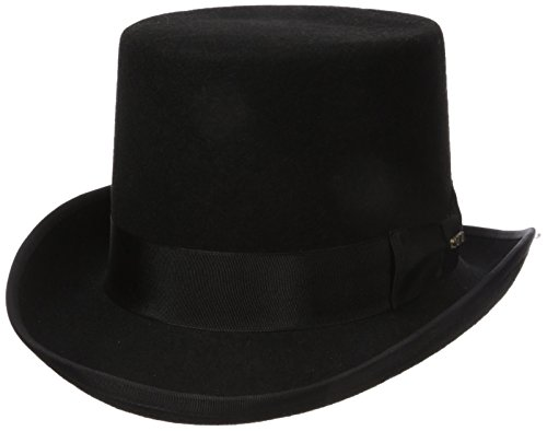 Scala Wool Top Hat (Scala Men's Wool Felt Topper Hat, Black, Large)