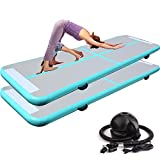 10ft Inflatable Training Mat – Air Floor Exercise Mat | Air Track Tumbling Mats | Inflatable Gymnastics Air Track Mat | Yoga Mat w/Electric Air Pump for Practice Gymnastics | Tumbling | Martial Arts