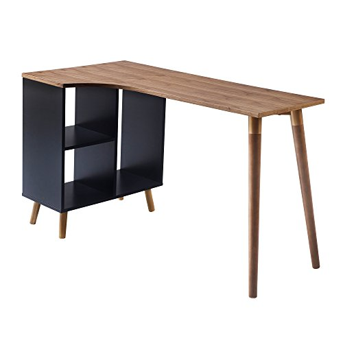 Versanora Bloccare Office Desk – Walnut/Black For Sale