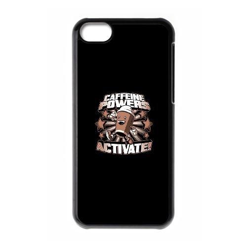 La caféine puissances IX38TK5 coque iPhone Téléphone cellulaire 5c cas coque K5BM3N1ZV