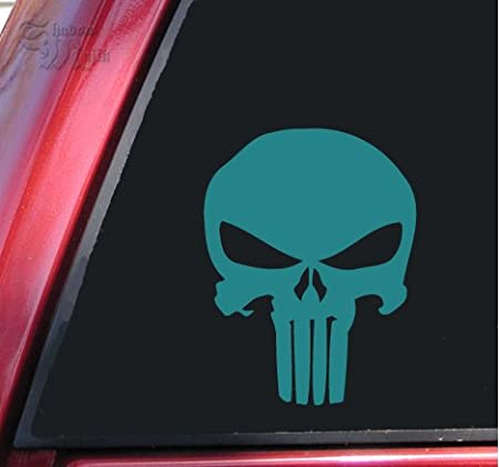 6 X 4.6, Red ShadowMajik Enterprises ShadowMajik Punisher 2K Skull Vinyl Decal Sticker