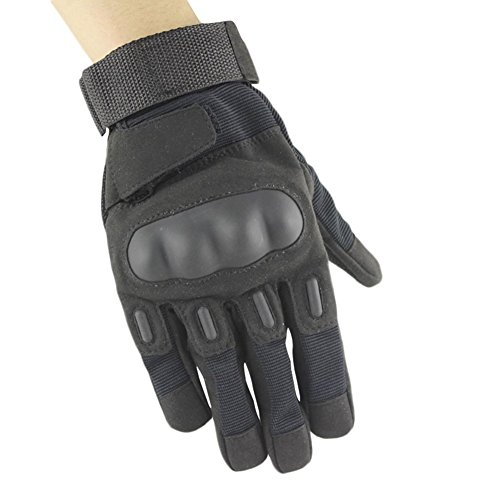 Adiew Full Finger Military Tactical Airsoft Hunting Riding Cycling Anti-Vibration Mountain Bike Slip-Proof Motorcycle Road Racing Bicycle Glove Shockproof Outdoor Sports Glove
