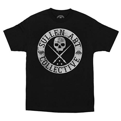 Sullen Clothing Men's Badge of Honor Blaq Short Sleeve Tee, Black, (Honor Short Sleeve Tee)