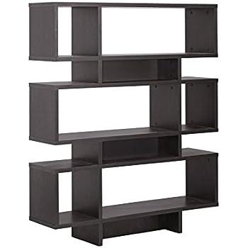 Baxton Studio Cassidy 6 Level Modern Bookshelf Dark Brown