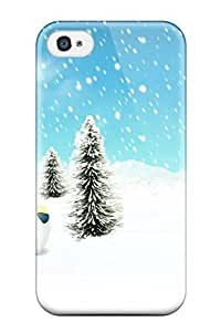 AnnDavidson Scratch-free Phone Case For Iphone 4/4s- Retail Packaging - Christmas And Desktops