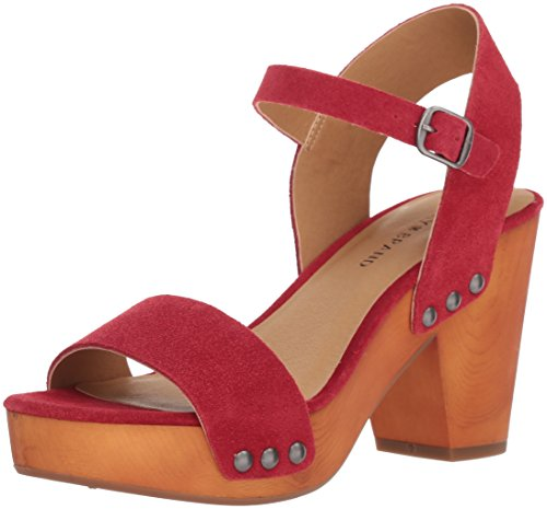 Trisa Lucky Brand Red Sandal Heeled Women's Sb EcPRqcO