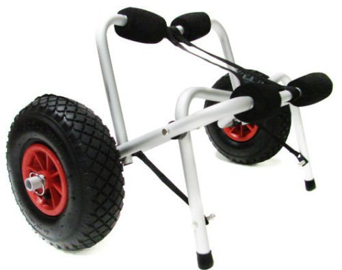 New Kayak Canoe Jon Boat Carrier Dolly Trailer Tote Trolley Transport Cart Wheel by New Unbrand by New Unbrand