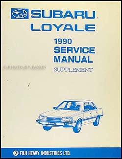 1990 subaru loyale repair shop manual original supplement subaru rh amazon com 1992 subaru loyale repair manual subaru loyale service manual
