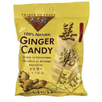 (Prince Of Peace 100 Percent Natural Ginger Candy Chews, 4.4 Ounce)