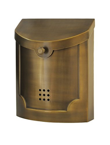Ecco E4 Mailbox - E4BS Satin Brass - Large Wall Mounted Mailbox