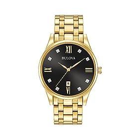 Bulova Men's Goldtone Diamond Dial Watch