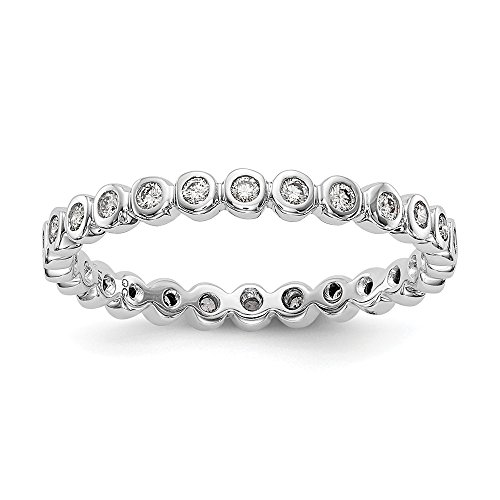 Kiokori Eternity Diamond Band Bezel Set 1/3-Carat tw Ring Size ~ by Roy Rose ()