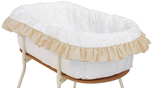 bkb Solid Color Bassinet Bumper, Ecru, Large (Bassinet Liner)