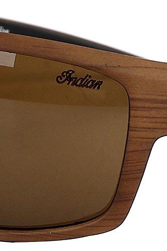 soleil Wooden Lunettes de marron Marron Indian SqfFxF