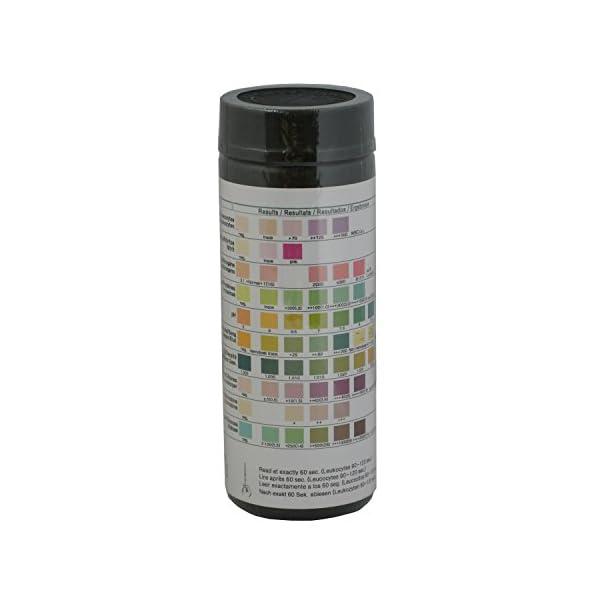 100 Tiras Reactivas para análisis de orina de 10 Parámetros: Leucocitos, nitritos, urobilinógenos, proteínas, pH, sangre… 8