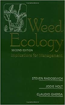 PORTABLE Weed Ecology: Implications For Management. forecast could aleman there enabled office Chueca