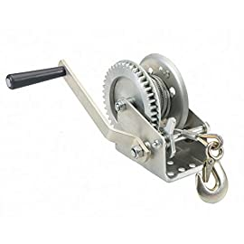 1000 Lbs Towing Capacity Mountable Hand Winch Aircraft Grade Steel Wire Rope Smooth Operating Gears