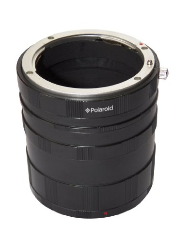 Polaroid Canon EOS Macro Extension Tube Set For Extreme Close Up Photography For The Canon Digital EOS Rebel SL1 (100D), T5i (700D), T4i (650D), T3 (1100D), T3i (600D), T1i (500D), T2i (550D), XSI (450D), XS (1000D), XTI (400D), XT (350D), 1D C, 70D, 60D, 60Da, 50D, 40D, 30D, 20D, 10D, 5D, 1D X, 1D, 5D Mark 2, 5D Mark 3, 7D, 6D Digital SLR Cameras (Best Budget Telephoto Lens For Canon 550d)