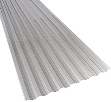 Suntuf 159854 Polycarbonate Roof Panel 72 L X 26 W Solar Control Silver 10 Piece Roofing Amazon Canada