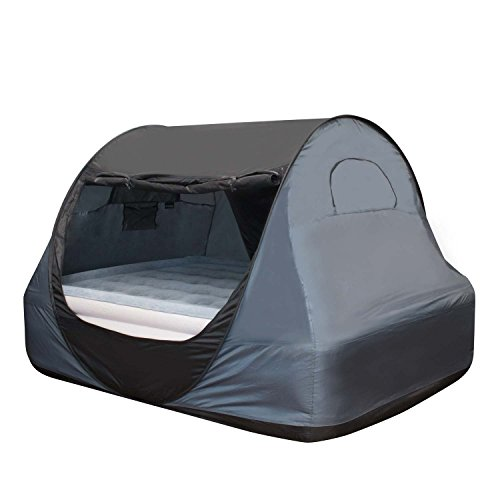 Winterial Indoor Privacy Bed Tent, Pop Up Fort, Bed Canopy, Twin