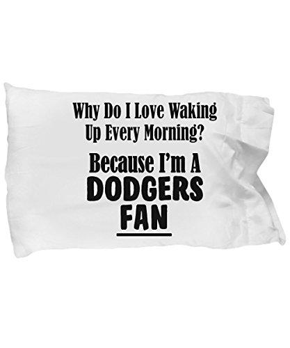 mmandiDESIGNS Dodgers Fan Pillowcase - Love Waking Up Every Morning – Baseball Team Sports Gift - 20x30 Microfiber Pillow Case - Nfl Mvp Pillow