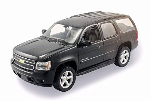 Welly 2008 Chevy Tahoe SUV, Black 22509W/Bk - 1/24 Scale Diecast Model Toy Car (Tahoe Model Cars)