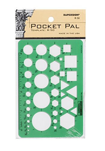 Rapidesign Pocket Pal Template, 1 Each (R50) ()