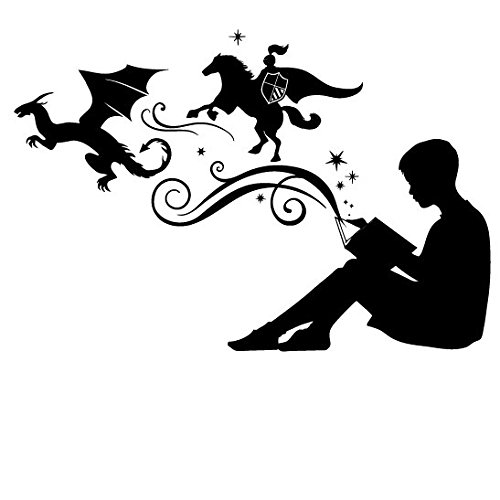 boy-reading-magic-book-facing-left-small-black-vinyl-wall-art-decal-for-homes-offices-kids-rooms-nur