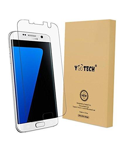 Galaxy S7 edge Protector de pantalla, YOOTECH [Cobertura Completa] [Este Caso] [Anti-Scratch] [Reutilizable] Wet Applied Protector de pantalla para Samsung Galaxy S7 edge HD Claro Anti-Burbuja Película- Garantía de por vida