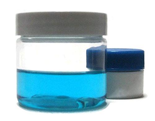Clear 2 oz Plastic Jar White Lid 6-pk with Mini Jar