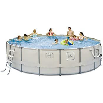 Summer waves elite polygroup 24 feet round 52 - Pro series frame pool ...