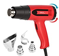 Heat Gun Kit Amtake Professional Hot Air Gun 1800W Adjustable Temperature Control 120°F-1020°F with Four Nozzles for Bending Pipes, Sealing, Shrink Tubing, Paint Remover