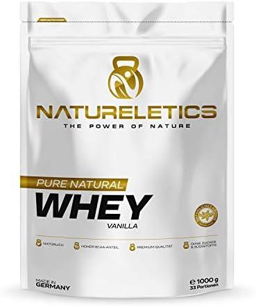 [Gesponsert]NATURELETICS VANILLE 1kg natürliches Premium Vanille Whey, Proteinpulver aus Deutschland, ohne Zusatz von Zucker...