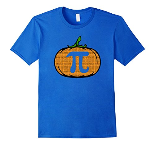 Mens Halloween Costume Math Pun   Pumpkin Pi Shirt Medium Royal (Classy Halloween Costumes Men)