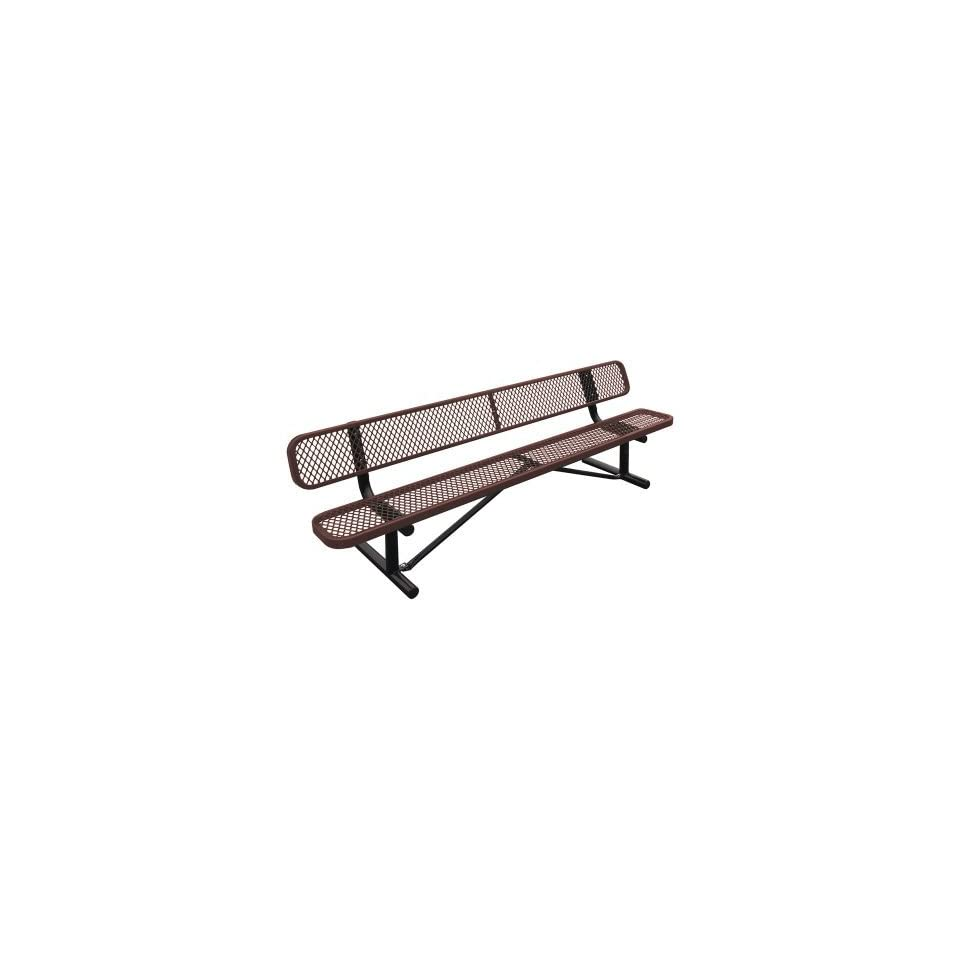 Leisure Craft Standard Expanded Steel Commercial Park Bench   B4WBSM GREEN  Outdoor Benches  Patio, Lawn & Garden