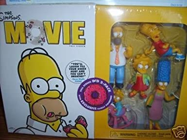 Amazon Com The Simpsons Movie With Figurines 2 Pack Movies Tv