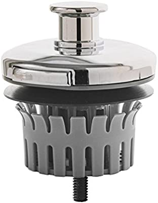 Brushed Nickel P-SUN Drain Strain Clog Preventing Bathtub Drain Strainer Fits 1.5 Wide x 1.25 Deep Tub Drains Replacement Bath Tub Stopper//Hair Catcher with Basket to Make Cleaning a Breeze