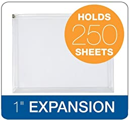 Globe-Weis/Pendaflex Zip Envelope, Letter Size, 5-Pack, Clear (84190GW)