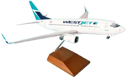 daron-skymarks-westjet-737-700-model-kit-with-wood-stand-and-gear-1-100-scale