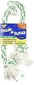 Booda Fresh N Floss 3 Knot Tug Rope Dog Toy, X-Large, Spearmint