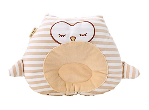 Hypoallergenic Toddler Pillow for flat head syndrome prevention I Newborn Pillow for sleeping I Anti Reflux Pillow I Promote Infant Spine Alignment I 100% Soft Organic Cotton Baby Pillow by HiGo Commerce