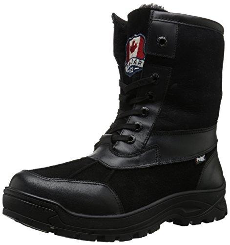 Pajar Men's Clermont-G Snow Boot, Pro 15 Clermont/Trim Nappa Black/Suede Black, 8 M US (Trim Nappa Boots)