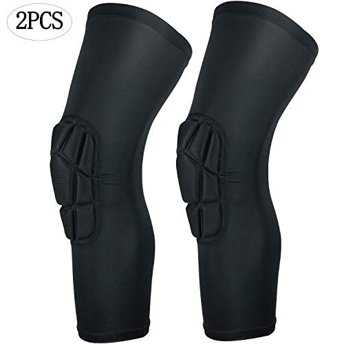 - HOPEFORTH 2PCS Knee Padded Compression Leg Sleeve Thigh Guard Sports Protective Gear Brace Support for Football Basketball Volleyball Softball Tennis Youth Kids Adult