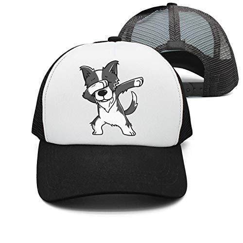ONEYUAN Man Funny Dabbing Border Collie Baseball Cap Trucker hat