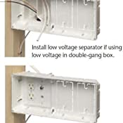 Arlington Tvb613 1 Recessed Tv Outlet Box With Paintable