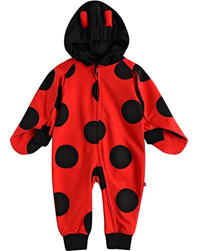 Vaenait baby 6-24M Unisex Boys Girls Infant Hooded Jumpsuit Rompers Ladybug S -