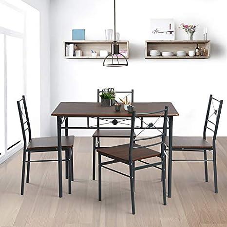 Innovareds Elegante tavolo con 4 sedie pieghevoli per sala da pranzo ...