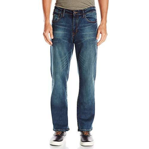IZOD Men's Comfort Stretch Denim Jeans (Regular Fit), Lexington, 36x32 (Izod Belts For Men)