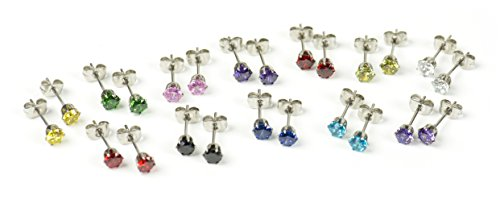 Stainless Steel Earrings Different Colors